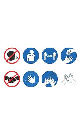 Covid-19 preventie sticker